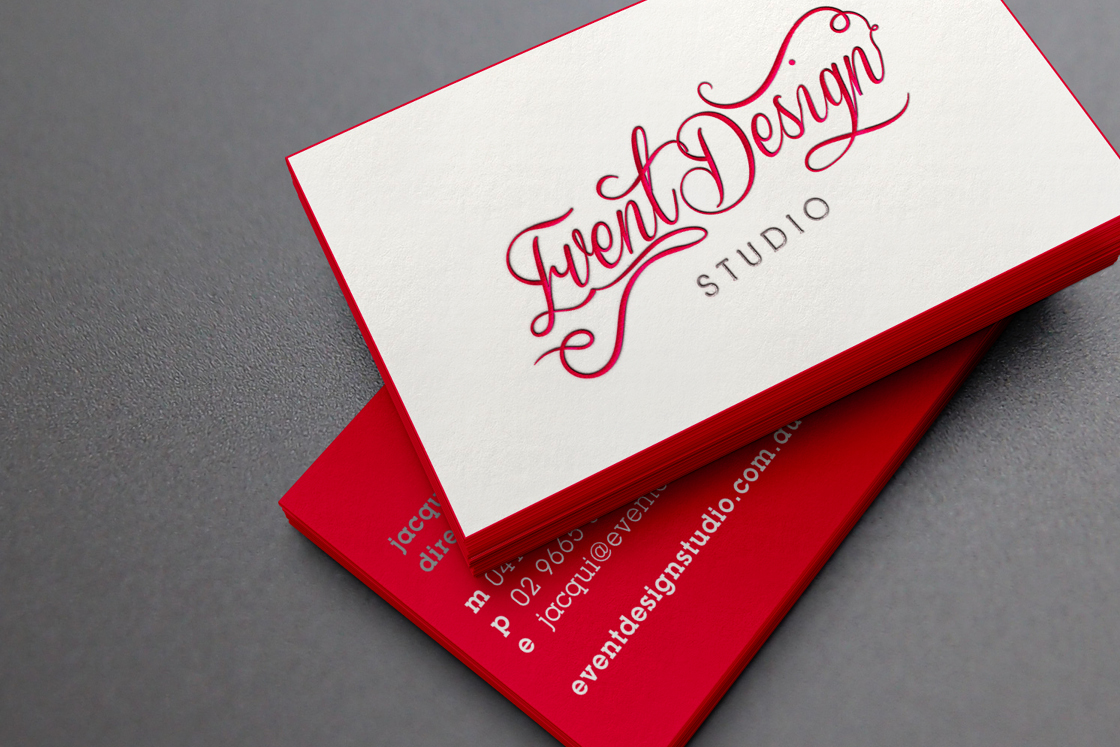 Event Design Studio | Business Cards | Letterpressed & edge ...
